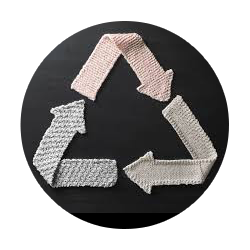 Recycle icon made from sustainable material
