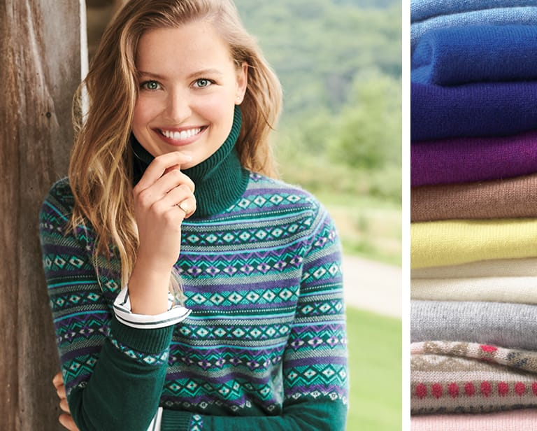 Ways To Wear and Style Cashmere Sweaters | Lands' End