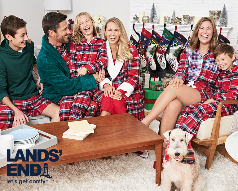 33ce9b74d8 Gift Guide: Matching Christmas Family Pajamas | Lands' End