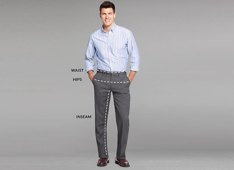 How Are Men S Pants Measured How To Measure Your Inseam Lands End Lands End