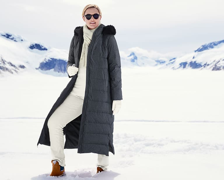 how to be fashionable in a warm winter coat