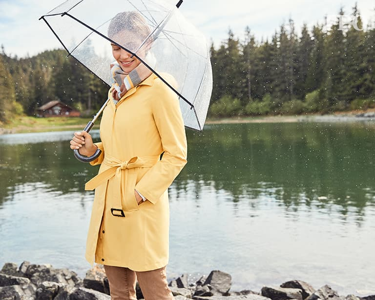 how to style rain coats