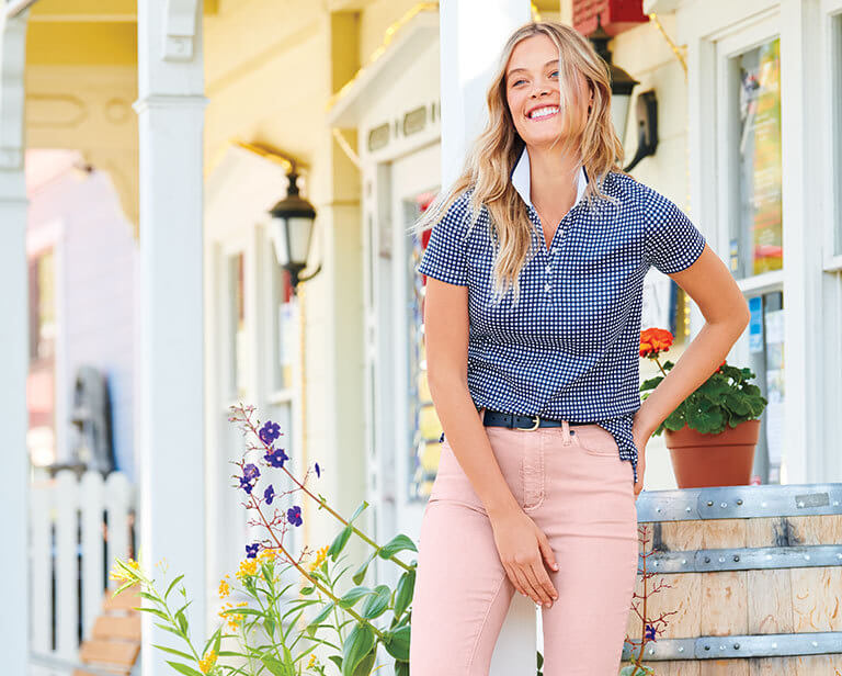 How to wear a womens polo shirt | Lands' End