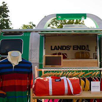 LandsEndHeritageTour - celebrating Lands' End's iconic products